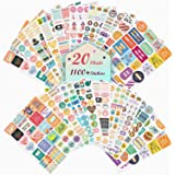 Planner Stickers 20 Sheets, Over 1100 Cute Stickers for Planner, Various Theme Monthly Weekly Daily Planner Sticker Set…
