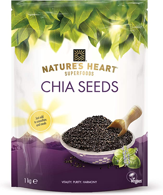 Natures Heart Chia Seeds, 1 kg: Amazon.es: Alimentación y bebidas