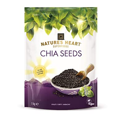 Natures Heart Chia Seeds, 1 kg: Amazon.es: Alimentación y ...