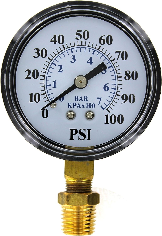Brands2O TC2104-P2 Well Pump Pressure Gauge Flotec