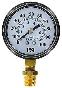 Brands2O TC2104-P2 Well Pump Pressure Gauge