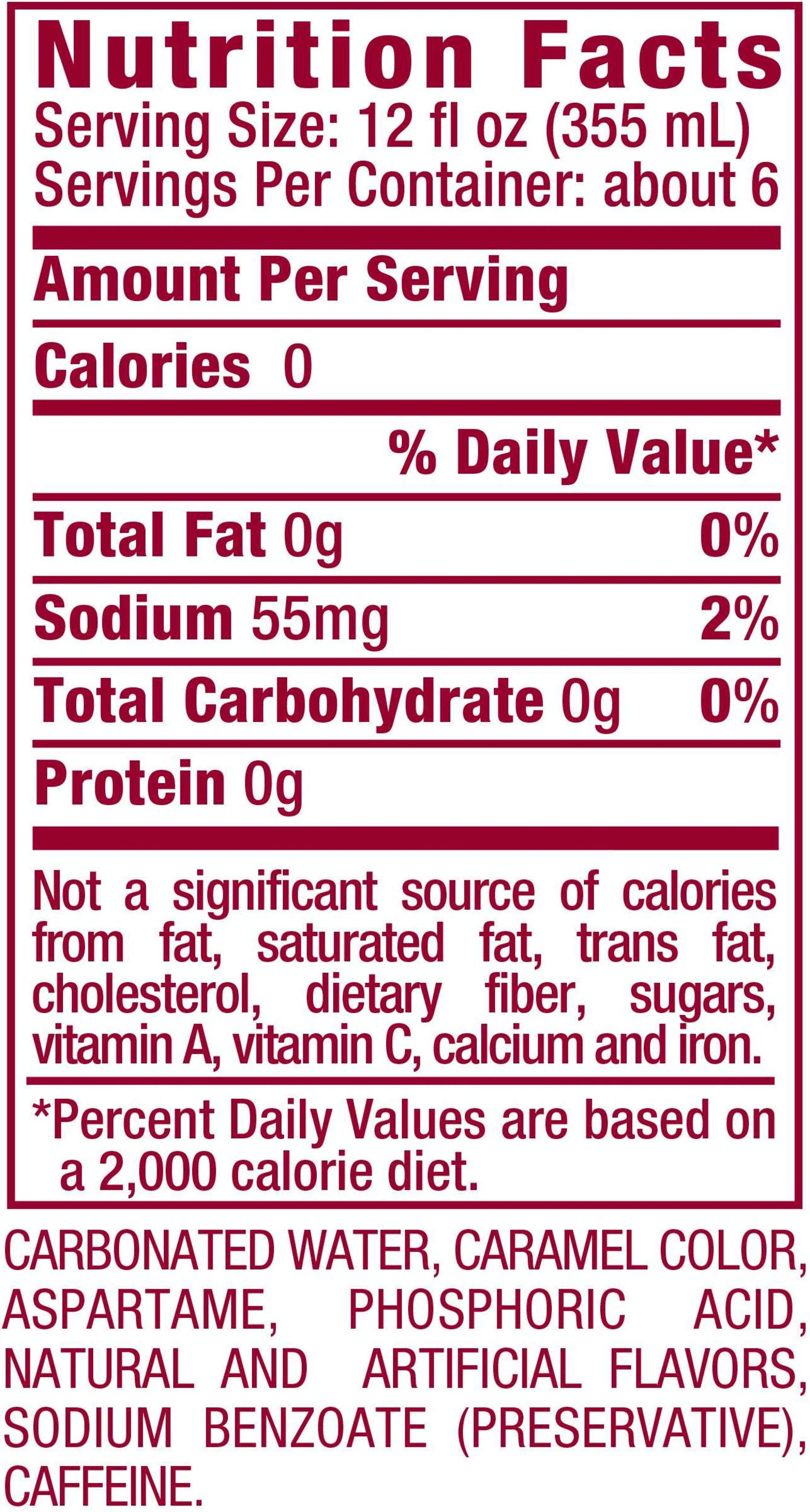 WHAT IS THE SUGAR IN DIET DR PEPPER
