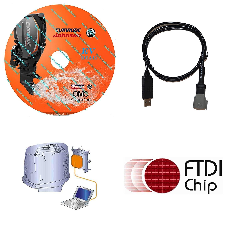 Professional evinrude etec diagnostic cable set,(ficht,johnson.
