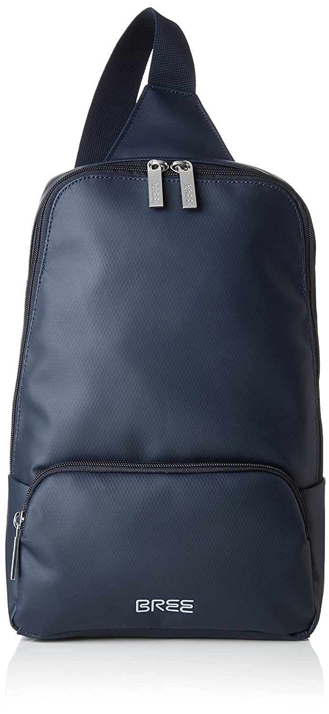 BREE Unisex Adults' 83251721Messenger Bag Blue Blue (Blue)
