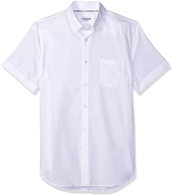 69044a4e4acea Lacoste CH1172 - Camisa de Manga Corta para Hombre (botón, plumón, 15  Unidades