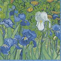 Caspari Irises–Juego de servilletas de papel (20unidades), diseño