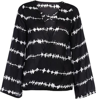 Longra Mujer Casual Camiseta algodón Tops Blusa, Moda Casual ...
