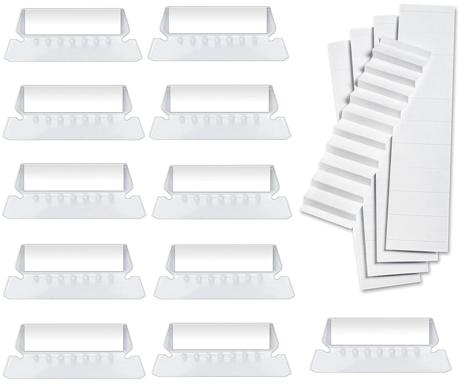 """100 Pack Hanging Folder Tabs and Inserts, 2"""", (Clear)"""