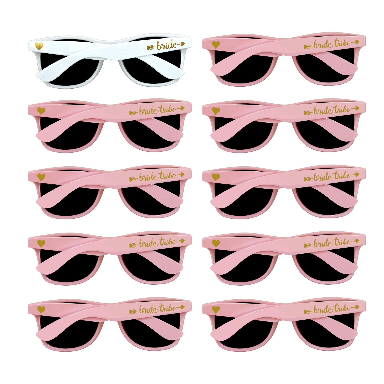 Bridal Shower Favors Bachelorette Party Supplies 10pcs Pink Weddings Sunglasses