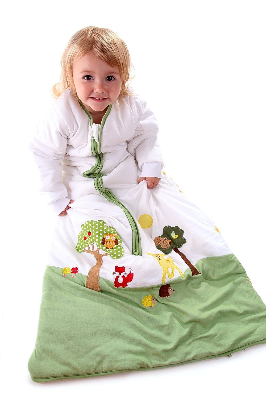 Schlummersack Baby Ganzjahres Schlafsack Langarm 2.5 Tog 70cm// 0-6 Monate Giraffe