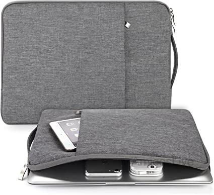 WATER RESISTANT Canvas Fabric Laptop Sleeve Case Bag For Macbook Surface Samsung