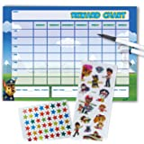 Paw Patrol Re-usable Reward Chart (including FREE Star Stickers, stickers and Pen) L/S