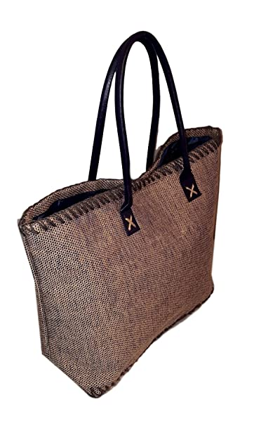 d25cd406f 101 BEACH Large Jute Tote Bag with Personalized Custom Embroidered Name