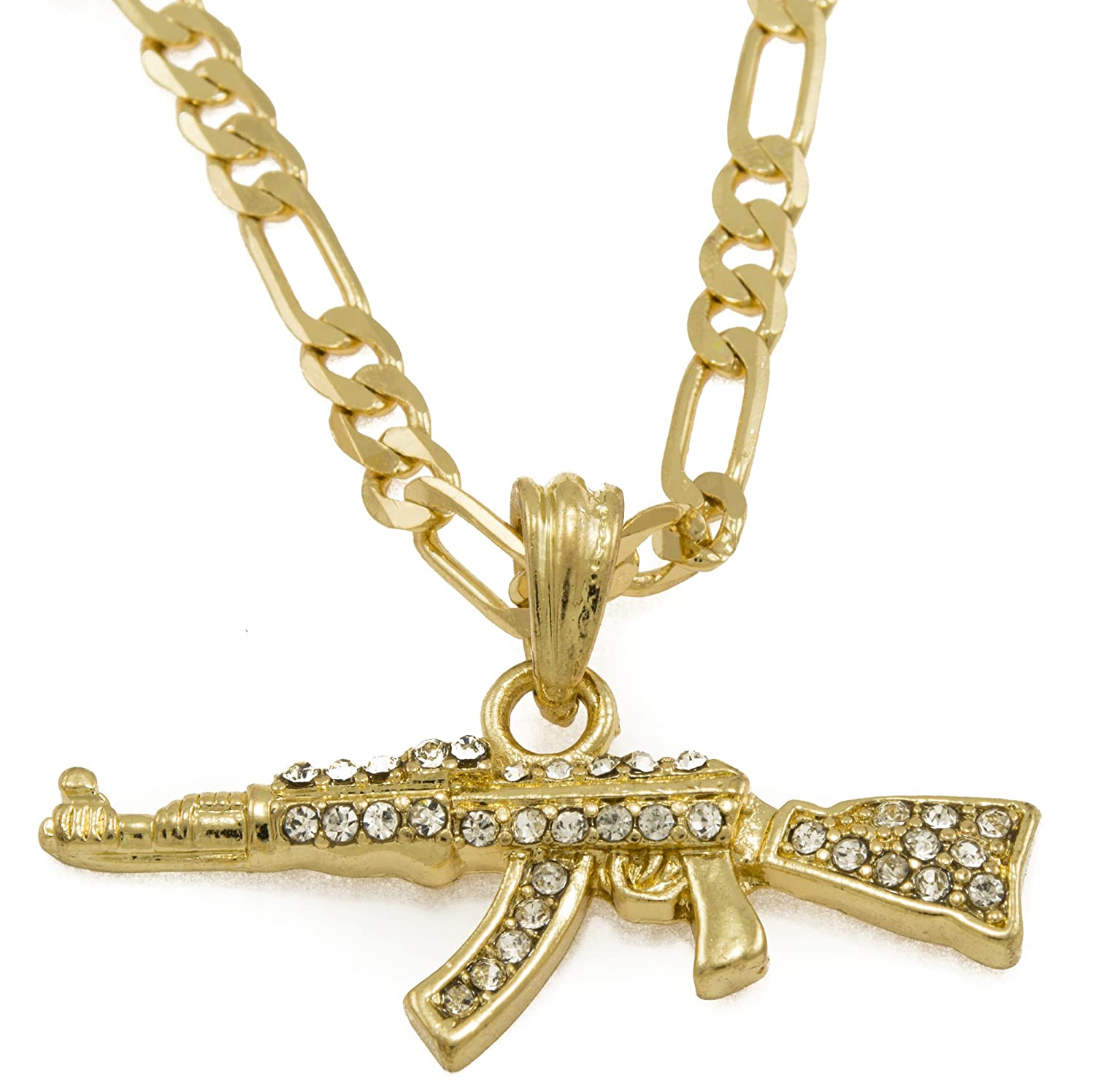 gun link men color necklace bling chain hop gold from necklaces in women gifts for pendant shape item hip silver jewelry