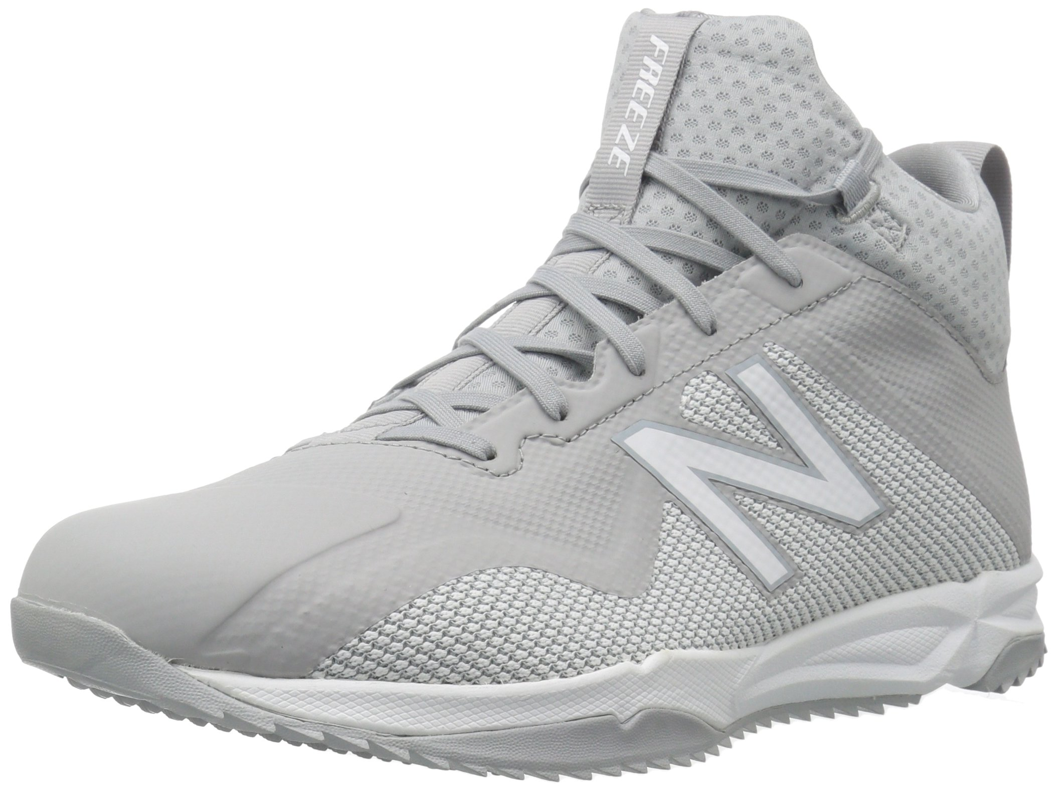 New Balance Men's Freeze v1 Turf Agility Lacrosse Shoe, Grey/White, 14 2E US by New Balance