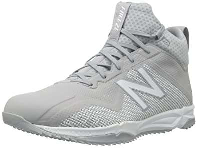 5f6e7e391a1fd New Balance Men's Freeze v1 Turf Agility Lacrosse Shoe, Grey/White, 6 2E