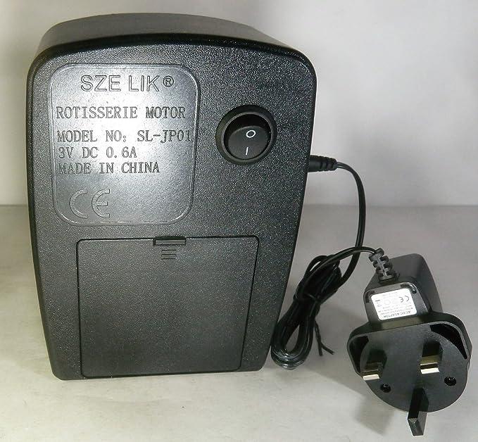 Amazon.com: Sze Lik parrilla de barbacoa asador Motor AC/DC ...