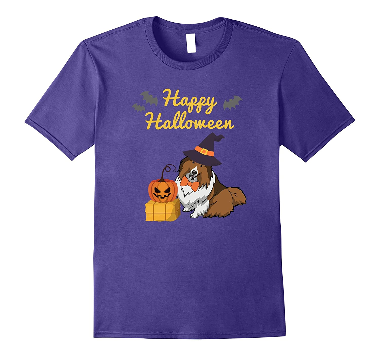 Cute Sheltie Happy Halloween T-Shirt, Sheltie Gift-Art
