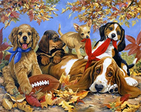 1000pcs Home Travel Jigsaw Puzzles Cute Dog Educational Adult Kids Puzzle Gifts