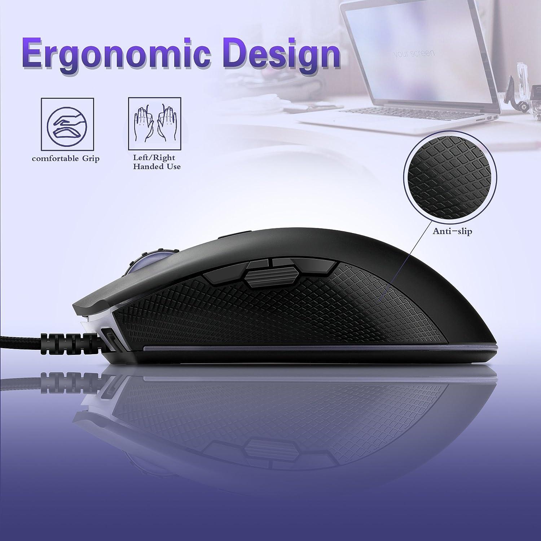 Definici/ón de la Macro para Gamer//PC//Ordenador Yocktec RGB Retroiluminaci/ón Rat/ón Gaming /Óptico 8 Botones Programables Profesional Cableado Ratones Gaming Ergon/ómico con 4 dpi Adjustable