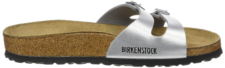 BIRKENSTOCK Damen Ibiza Pantoletten, Silber (Argent), 40 EU