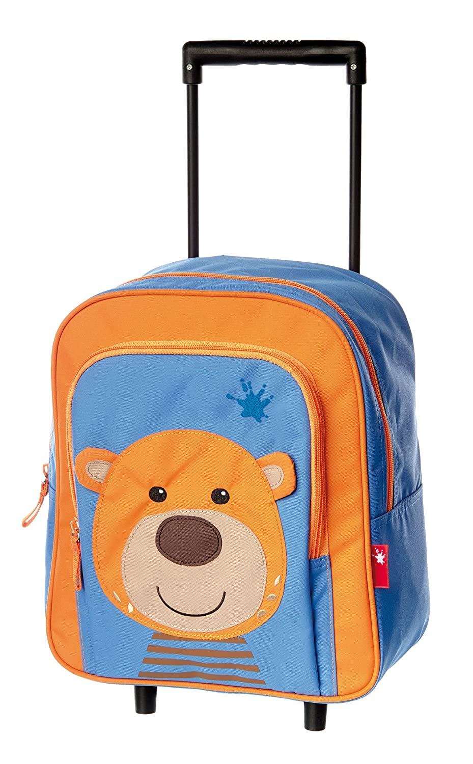 Bleu//Orange 30 cm sigikid 24653 Unisexe Mini Trolley Ours Bagage Enfant 9 L