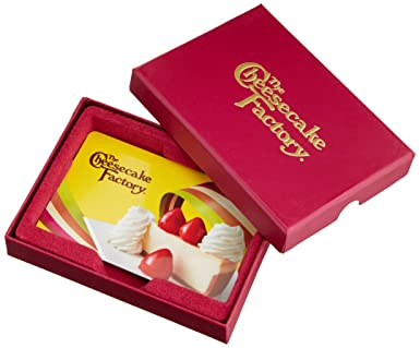 Amazon.com: The Cheesecake Factory $50 Gift Card - In a Gift Box ...