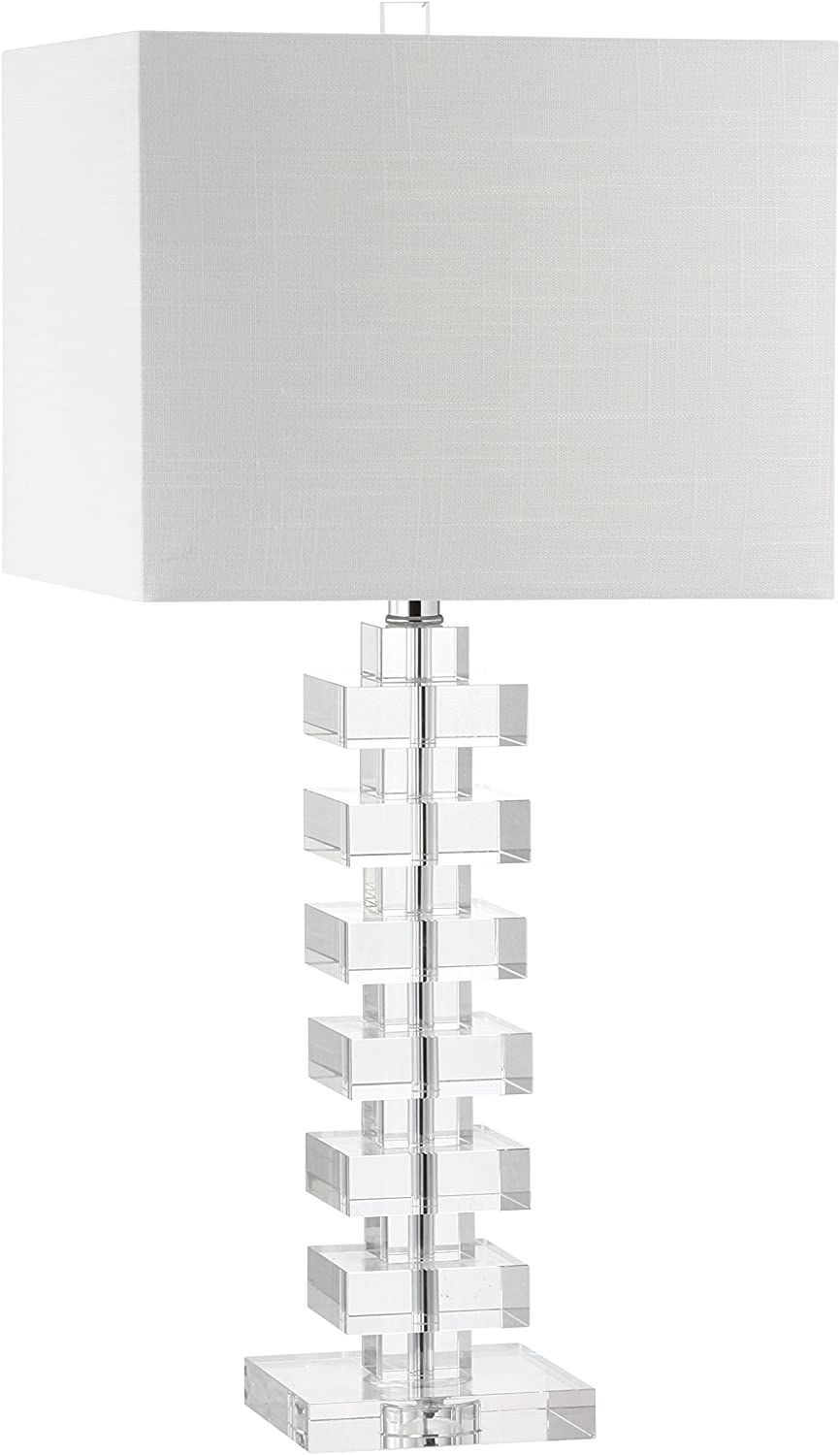"""JONATHAN Y JYL2054A June 28"""" Crystal LED Lamp Contemporary,Transitional,Glam for Bedroom, Living Room, Office, College Dorm, Coffee Table, Bookcase, Clear"""