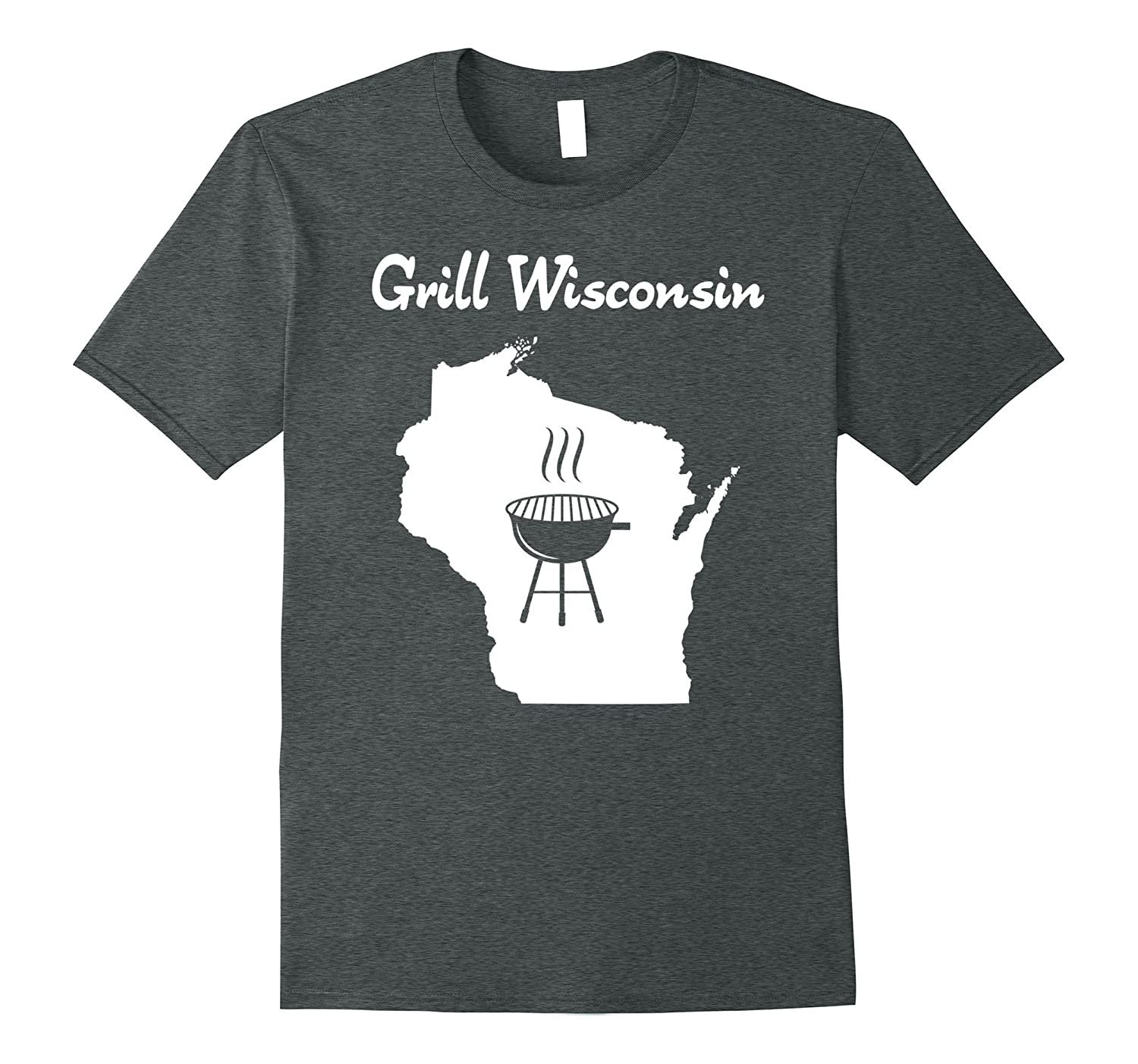"""""""Grill Wisconsin"""" awesome sconnie beer brat grilling t-shirt"""