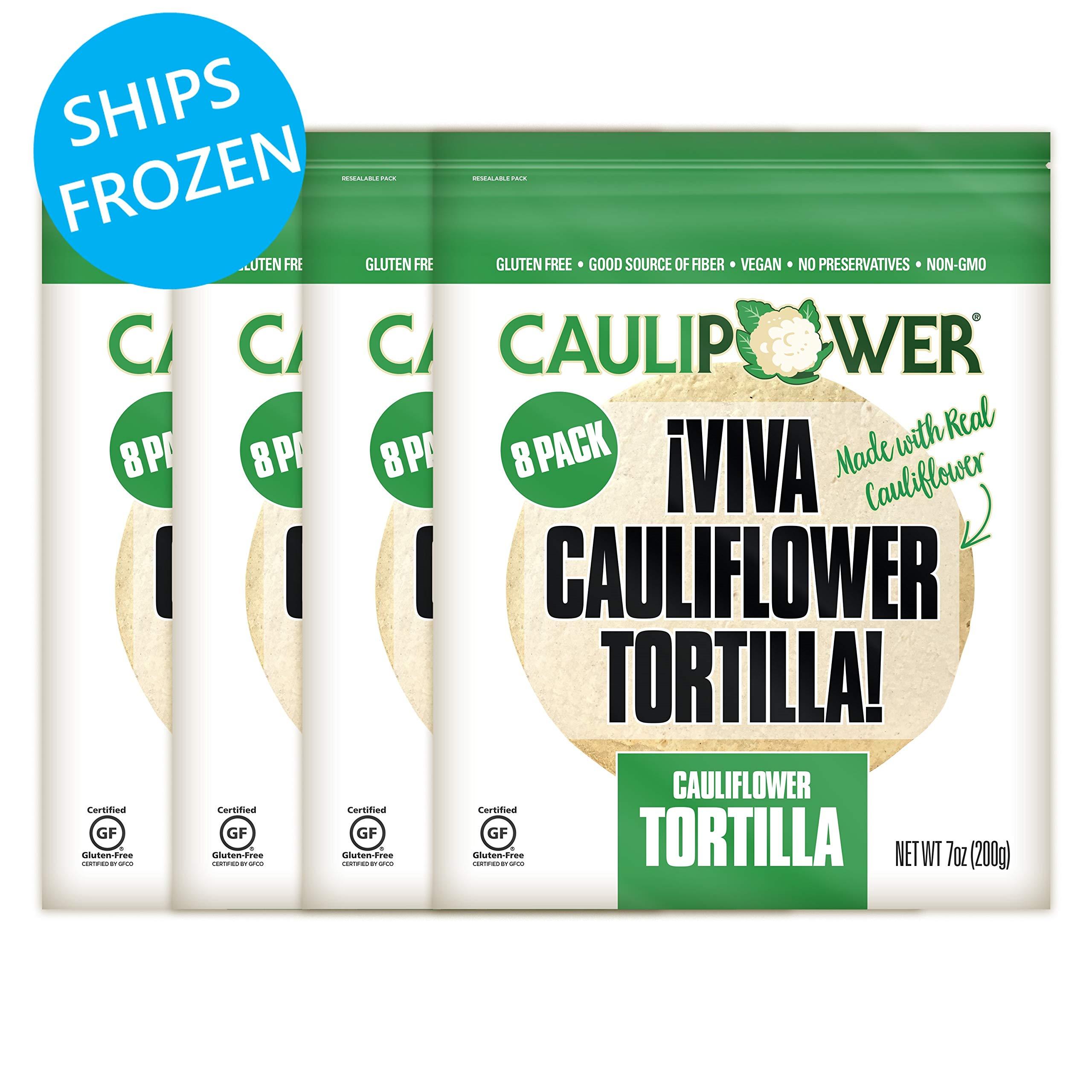 CAULIPOWER Original Cauliflower Tortillas | Certified Gluten-free | Non-GMO | Frozen | 32 Pack by CAULIPOWER