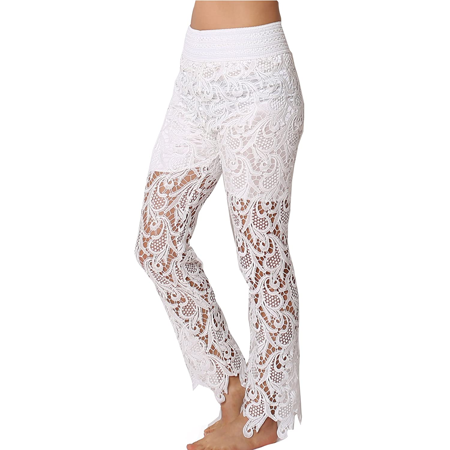 TD Collections Women's Premium Quality Crochet Flare Pant TD0P300