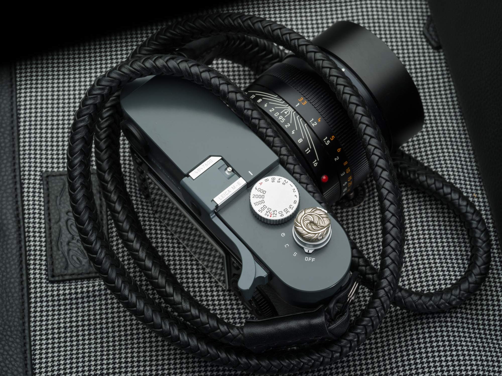 Soft Shutter Release Button Eagle Feather Sterling Silver Handcrafted by Jay Tsujimara fits Leica M240 variants and M10 by Jay Tsujimura