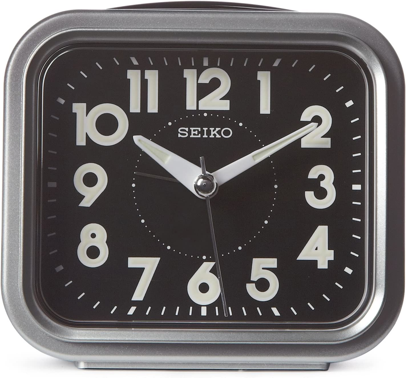 Seiko 4 Traditional Square Bell Alarm With Snooze and Dial Light