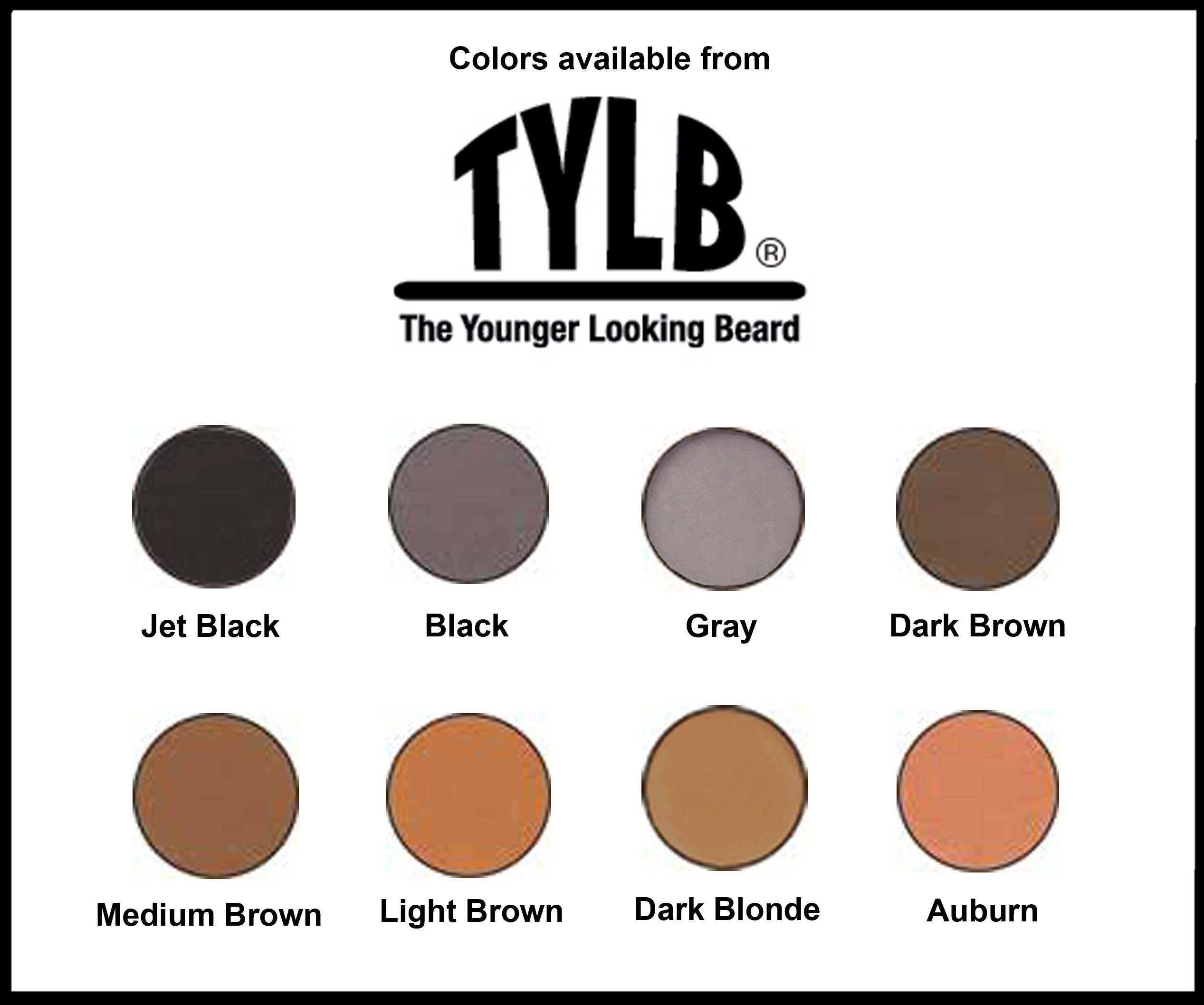 The Younger Looking Beard (Dark Blonde) Beard and Mustache Darkener. Non Allergenic. 1 Minute Brush On