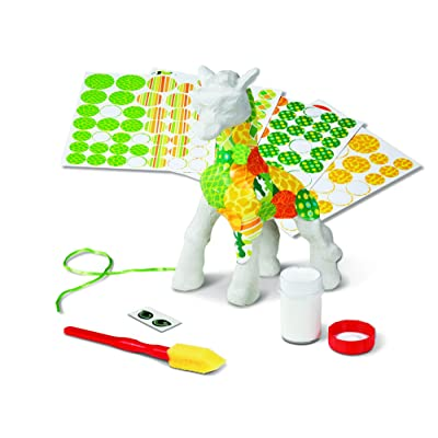 Melissa & Doug Decoupage Made Easy Giraffe Paper Mache Craft Kit With Stickers: Toys & Games