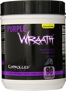 Purple Wraath by Controlled Labs, BCAA and EAA Amino Acid Supplement, with Endurance Blend Intra Workout Powder, Optimal Endurance, Focus, and Stamina (Grape, 90 Servings)