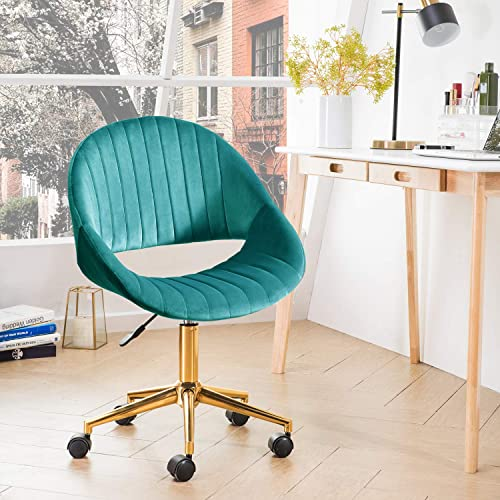 ovios Cute Desk Chair,Plush Velvet Office Chair