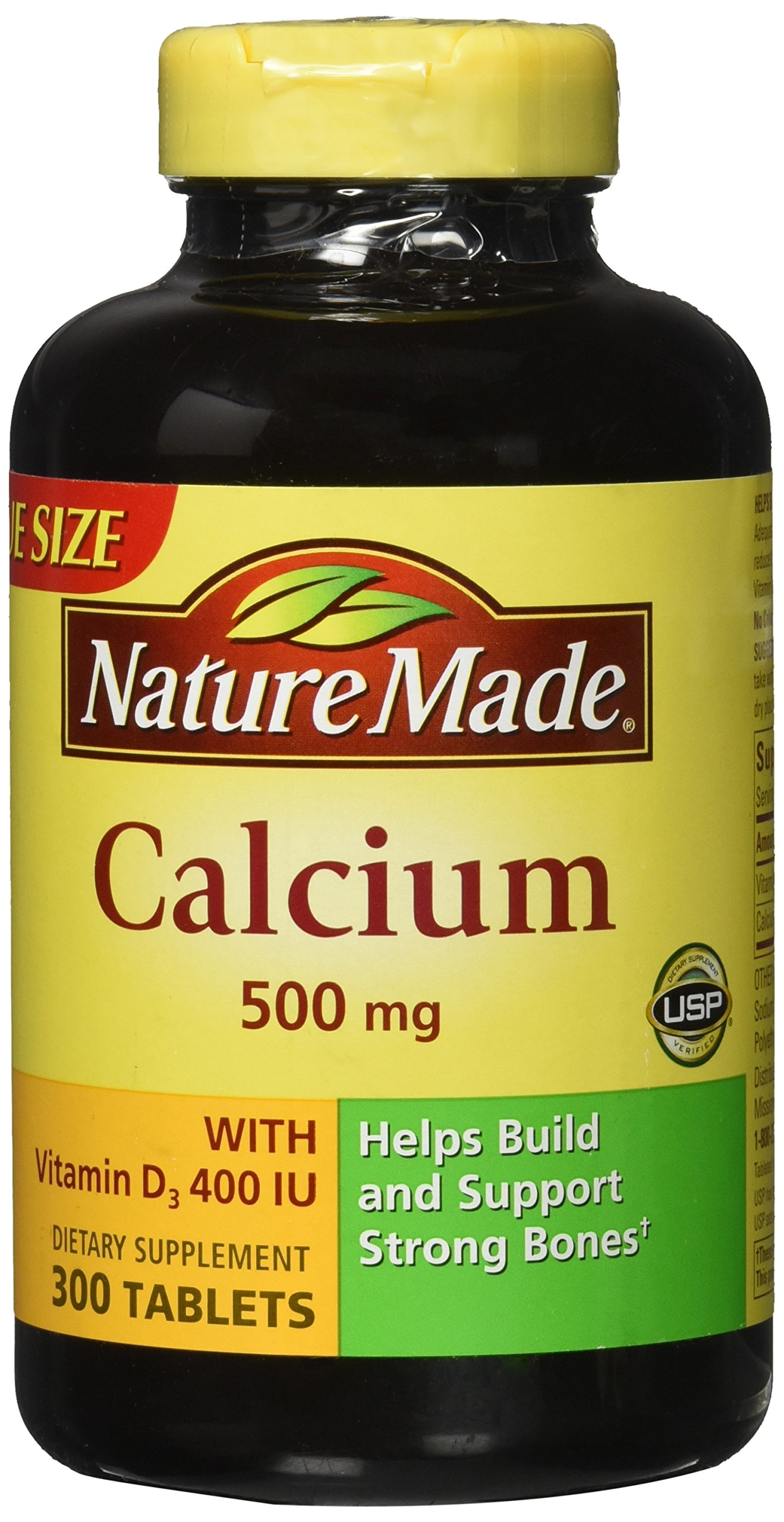 Nature Made Calcium 500 mg + Vitamin D3 Tabs, 300