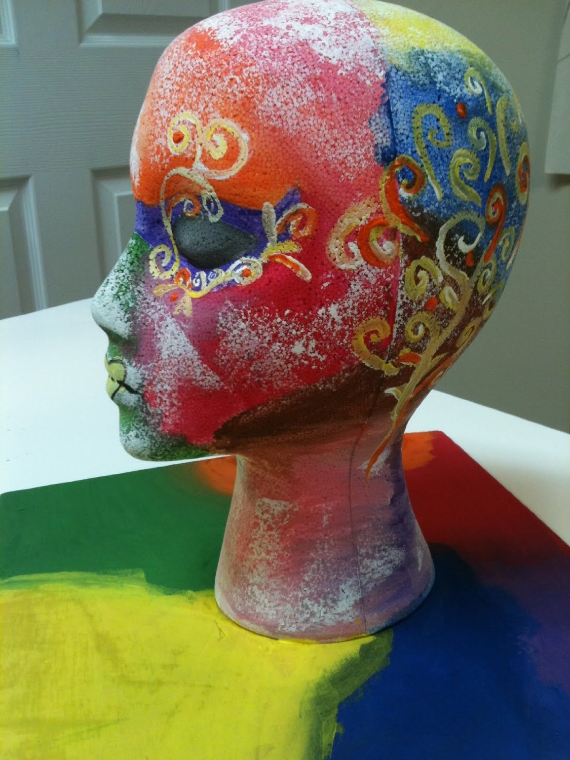 Styrofoam Mannequin Head with Female Face (1)