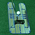 "Sumger Golf Putting Mirror with Guid Rail, Alignment Training Aid Putting Trainer Eye Line Golf Practice Mirror 17.95""x9.29"""