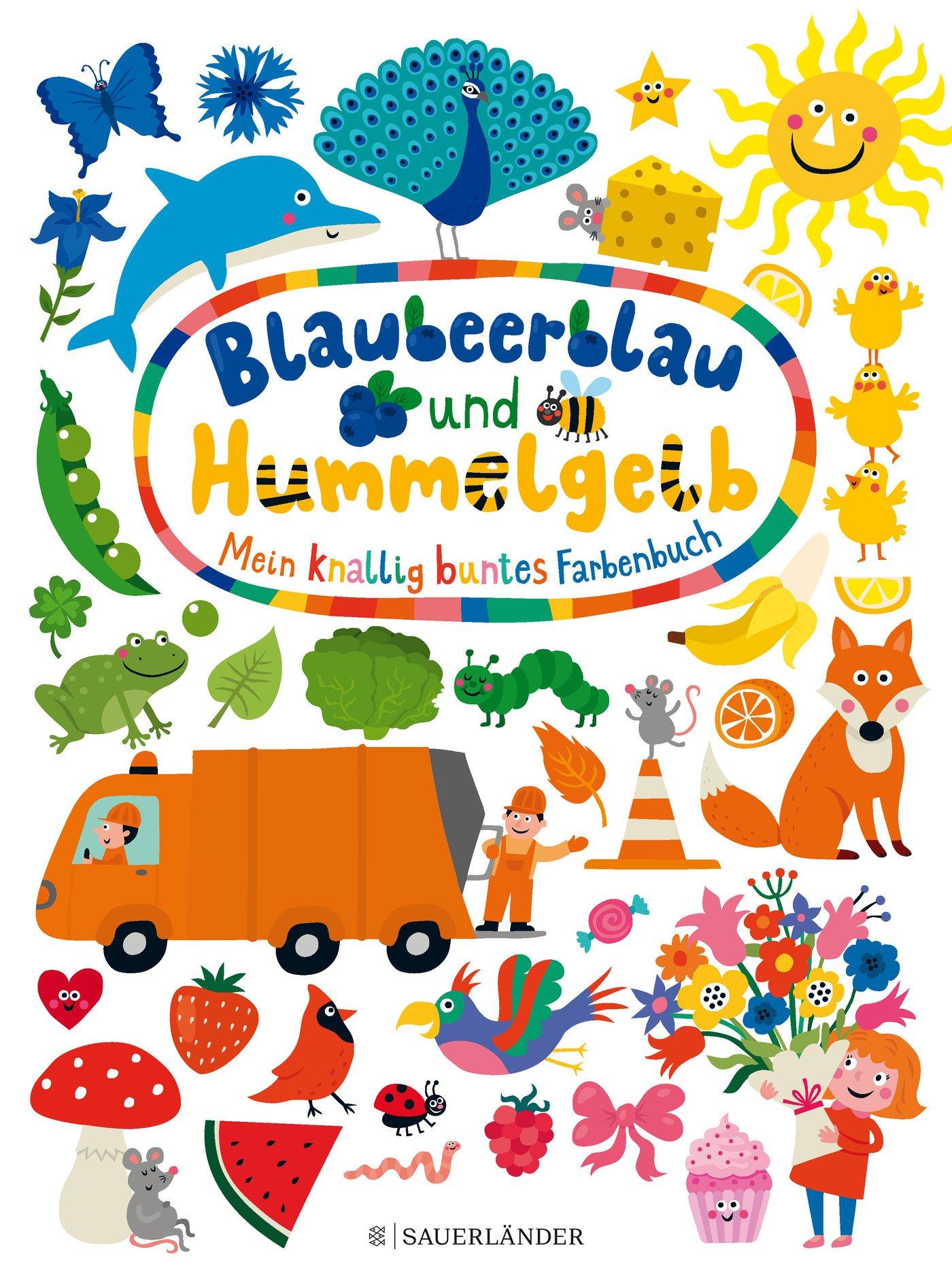Blaubeerblau und Hummelgelb Mein knallig buntes Farbenbuch