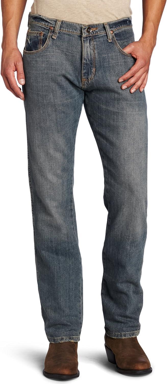 Wrangler Mens Retro Slim Fit Straight Leg Jeans