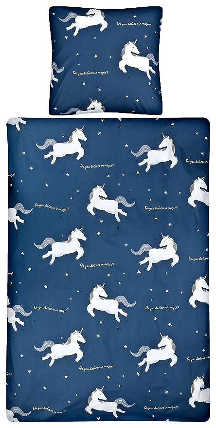Aminata Kids Believe In Magic Cotton Bed Linen 135x200 Cm Girl