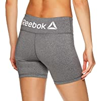 Reebok Women's Performance Compression Running Shorts with Mid-Rise Waist