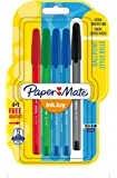 PaperMate InkJoy 100 CAP Capped Ball Pen with 1.0 mm Medium Tip - Assorted Standard Colours, Pack of 4 + 1
