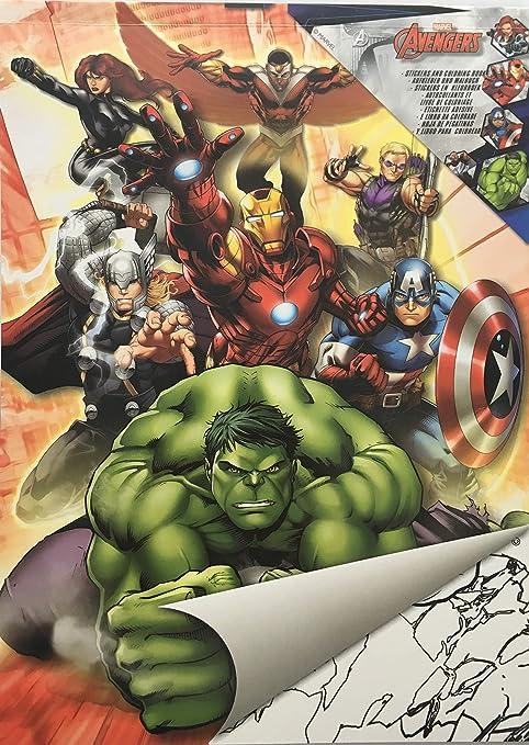 Malbuch Set Blocco Da Colorare Sticker Din A 4 Con Marvel Avengers