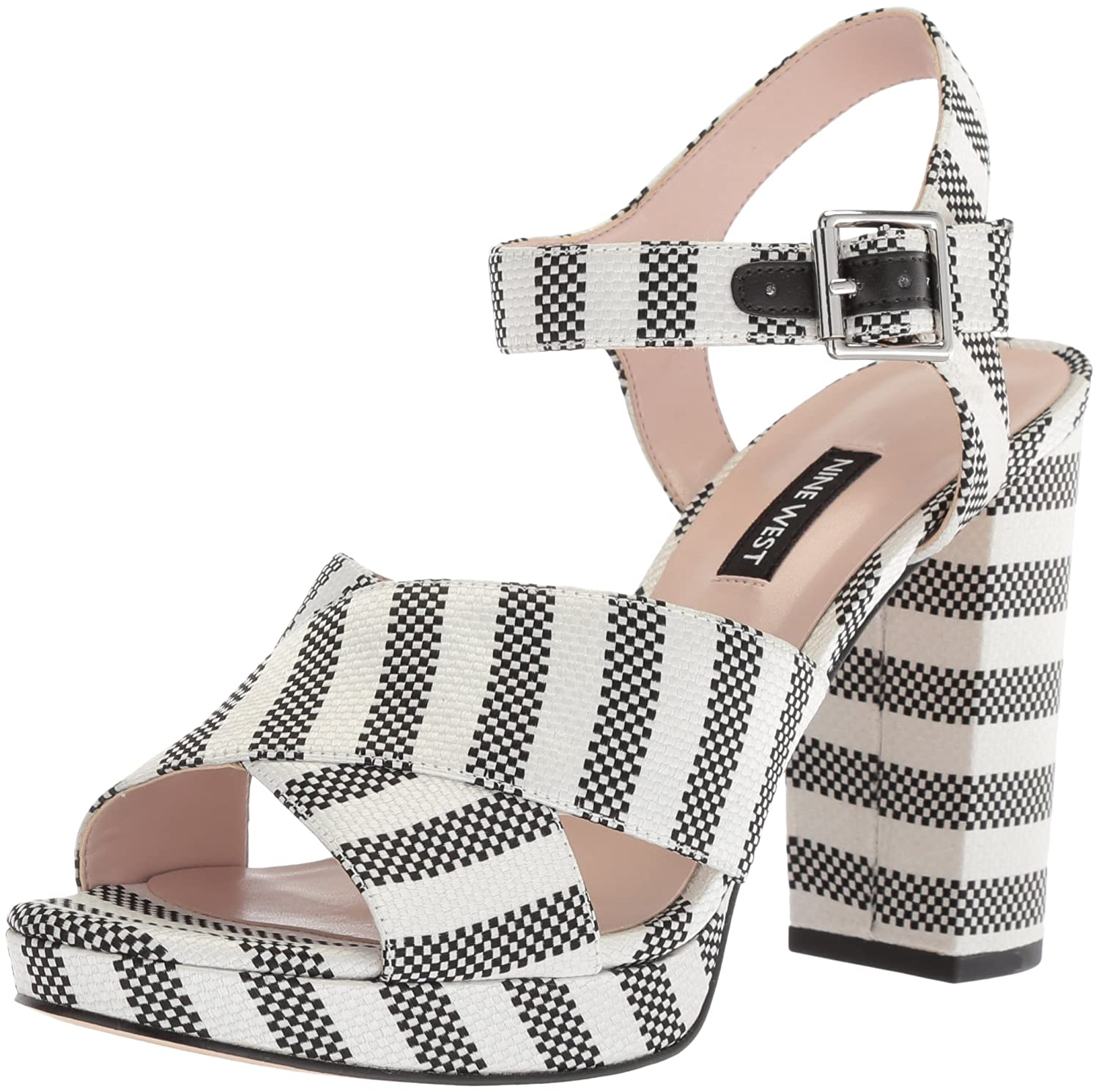 dbfcccbdb83 Nine West Women s JIMAR Fabric Heeled Sandal  Buy Online at Low Prices in  India - Amazon.in