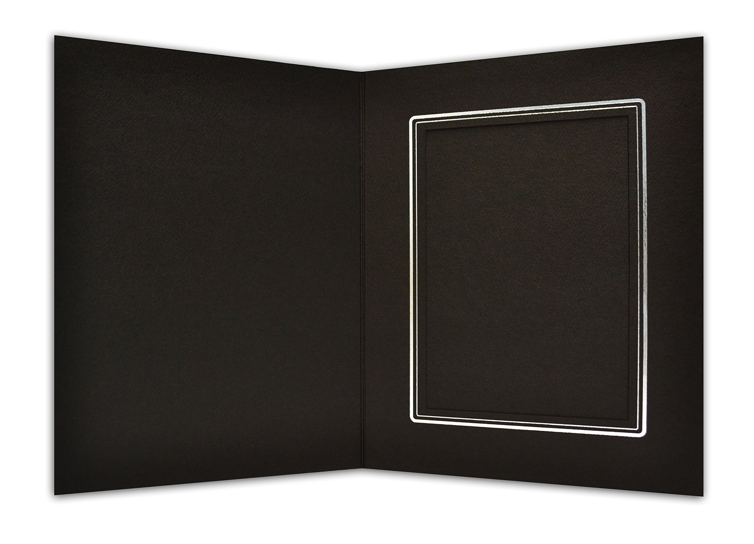 Golden State Art, Cardboard Photo Folder for a 4x6 Photo (Pack of 100) Black Color by Golden State Art (Image #2)