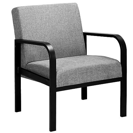 WOLTU Sillones sillón de Seguridad, sillas de baño Cubierta de Tela y Acero, Gris