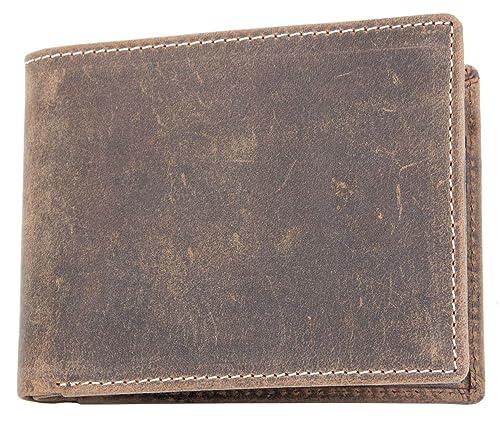 FLW-HL Cartera de piel auténtica sin marcas ni logos y bolsillo monedero: Amazon.es: Zapatos y complementos